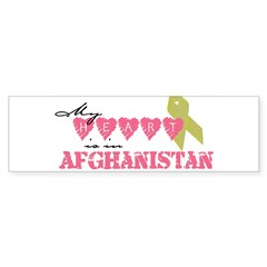 Yellow ribbon/My heart is in Sticker (Rectangular Sticker (Bumper 50 pk)