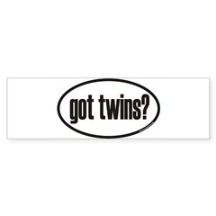 got twins? Euro Oval Sticker (Bumper 50 pk)