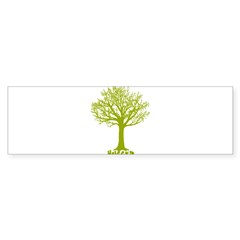 TREE hugger (lime) Rectangle Sticker (Bumper 50 pk)