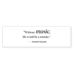 Without music, life is a mist Sticker (Rectangular Sticker (Bumper 50 pk)