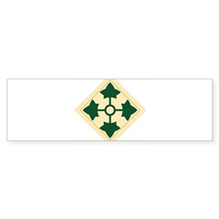 4th Infantry Division Rectangle Sticker (Bumper 50 pk)