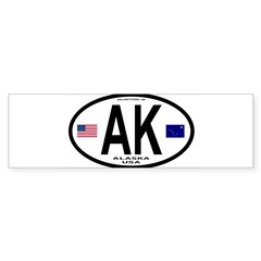 Alaska Sticker Euro Style (Oval) Sticker (Bumper 50 pk)