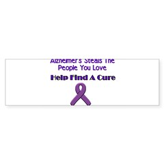alzheimer's steals Sticker (Bumper 50 pk)