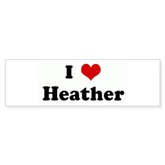 I Love Heather Sticker (Bumper 50 pk)