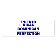 Dominican + Puerto Rican Rectangle Sticker (Bumper 50 pk)