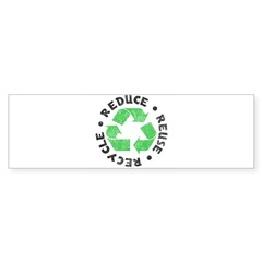 Recycle! Rectangle Sticker (Bumper 50 pk)