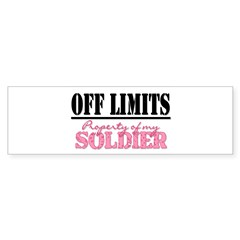 property of my soldier Rectangle Sticker (Bumper 50 pk)