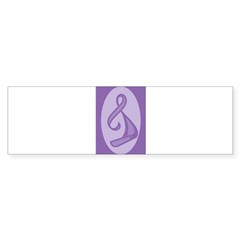 """Purple Ribbon Twist"" Oval Sticker (Bumper 50 pk)"