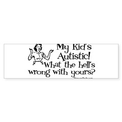 My kid's Autistic Rectangle Sticker (Bumper 50 pk)