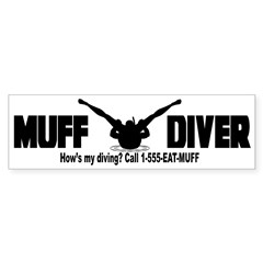 Muff Diving Sticker (Bumper 50 pk)