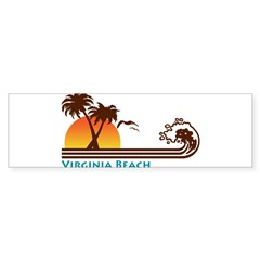 Virginia Beach Rectangle Sticker (Bumper 50 pk)