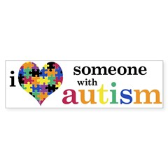 I HEART Someone with Autism - Sticker (Bumper 50 pk)