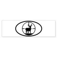 Hunting Stag Oval Sticker (Bumper 50 pk)