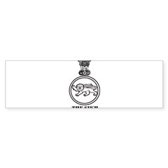 The Sikh Regiment Emblem Rectangle Sticker (Bumper 50 pk)