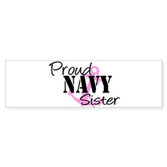 Proud Navy Sister - Pink Anch Sticker (Rectangular Sticker (Bumper 50 pk)