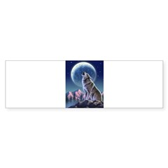 Howling Wolf 1 Rectangle Sticker (Bumper 50 pk)