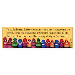 Peaceful Crayons Sticker (Bumper 50 pk)