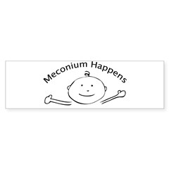 Meconium Happens Oval Sticker (Bumper 50 pk)
