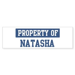 Property of NATASHA Sticker (Bumper 50 pk)