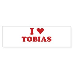I LOVE TOBIAS Sticker (Bumper 50 pk)