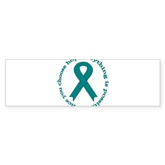 Teal Hope Oval Sticker (Bumper 50 pk)