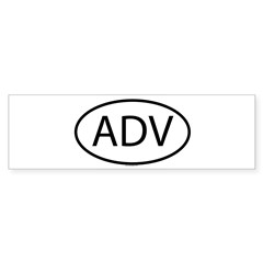 ADV Oval Sticker (Bumper 50 pk)