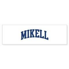MIKELL design (blue) Sticker (Bumper 50 pk)