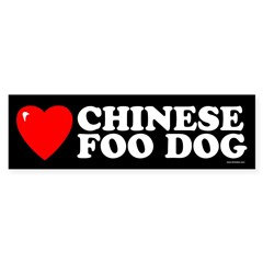 CHINESE FOO DOG Sticker (Bumper 50 pk)