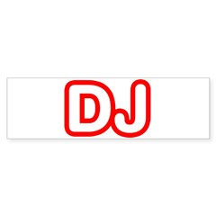 DJ Rectangle Sticker (Bumper 50 pk)