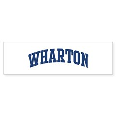 WHARTON design (blue) Sticker (Bumper 50 pk)