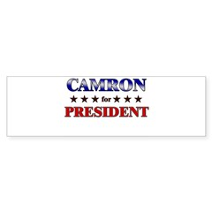 CAMRON for president Rectangle Sticker (Bumper 50 pk)