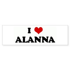 I Love ALANNA Rectangle Sticker (Bumper 50 pk)