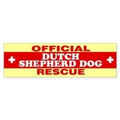 DUTCH SHEPHERD DOG Sticker (Bumper 50 pk)