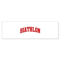 Biathlon (red curve) Sticker (Bumper 50 pk)