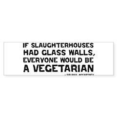 if slaughterhouses... Sticker (Bumper 50 pk)