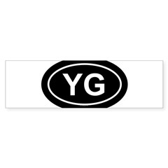 YG Oval Sticker (Bumper 50 pk)