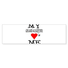 My Grandaughter Loves Me Rectangle Sticker (Bumper 50 pk)
