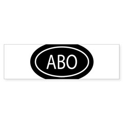 ABO Oval Sticker (Bumper 50 pk)