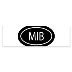 MIB Oval Sticker (Bumper 50 pk)