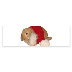 """Xmas Bunny 1"" Rectangle Sticker (Bumper 50 pk)"