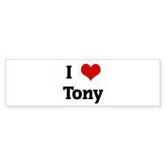 I Love Tony Rectangle Sticker (Bumper 50 pk)