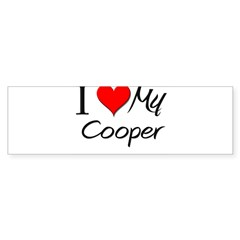 I Heart My Cooper Rectangle Sticker (Bumper 50 pk)