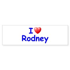 I Love Rodney (Blue) Sticker (Bumper 50 pk)