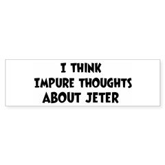 Jeter (impure thoughts} Sticker (Bumper 50 pk)