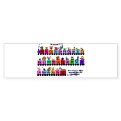 Alphabet Train Rectangle Sticker (Bumper 50 pk)