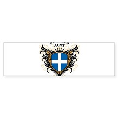 Number One Greek Aunt Oval Sticker (Bumper 50 pk)