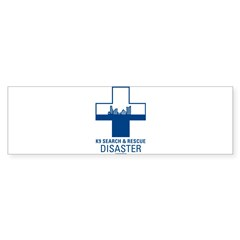 K9 Crosses - Disaster Search Rectangle Sticker (Bumper 50 pk)