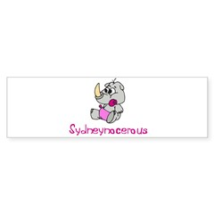 Sydneynocerous Rectangle Sticker (Bumper 50 pk)