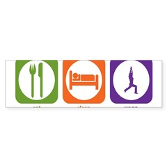 Eat Sleep Yoga Rectangle Sticker (Bumper 50 pk)