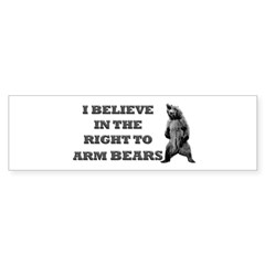 Right To Arm Bears Rectangle Sticker (Bumper 50 pk)